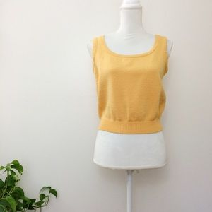 St. John Collection Marie Gray Knit Sweater Tank